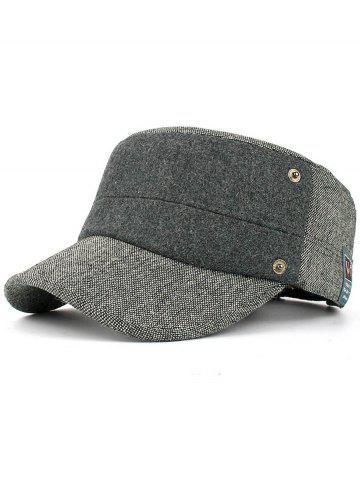 Shops Simple Label Pattern Embellished Button Military Hat