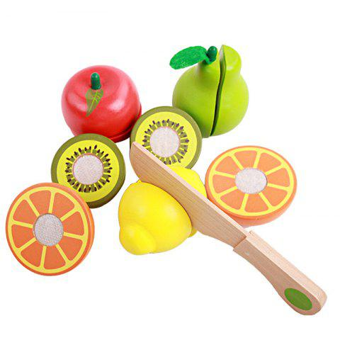 New Playhouse Early Educational Toys Wooden Cutting Fruit for Kids