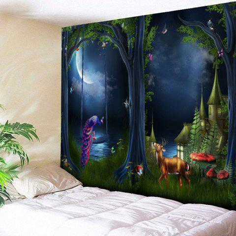 Trendy Magic Forest Print Wall Hanging Tapestry