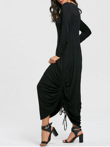 Store Drawstring Jersey Cocoon Maxi Dress