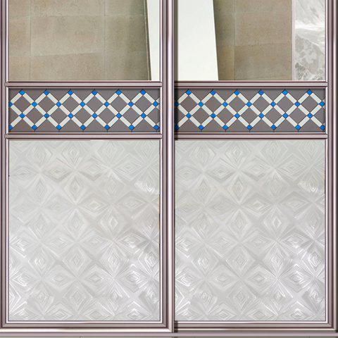 Outfits Rhombus Jacquard Window Film Sticker One Roll