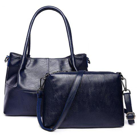 Buy Faux Leather 2 Pieces Handbag Set