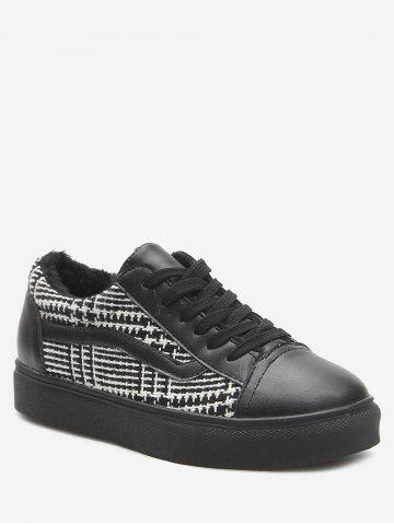 New Color Block Faux Leather Skate Shoes