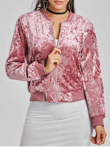 Fashion Velvet Bomber Jacket