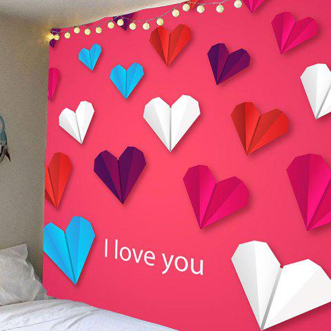 Outfit Valentine's Day Heart Paper Plane Pattern Wall Hanging Tapestry