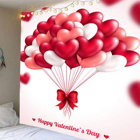 Cheap Valentine's Day Heart Balloon Pattern Hanging Tapestry