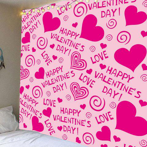 Fancy Valentine's Day Heart Printed Wall Art Tapestry