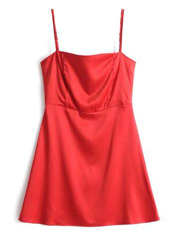 Latest Satin Back Zip Slip Mini Dress