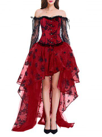 Corset Top with High Low Skirt
