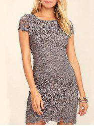 Lace Back Cut Out Bodycon Dress -