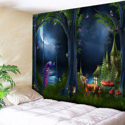 Magic Forest Print Wall Hanging Tapestry -