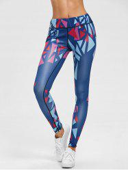 Geometric Graphic Skinny Leggings -