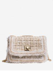 Twist Lock Chain Crossbody Bag -