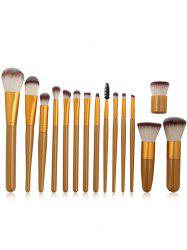 Professional 15Pcs Ultra Soft Fiber Hair Makeup Brush Set -