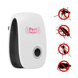 Mosquito Killer Electronic Repeller Ultrasonic Insect Mouse Anti Rodent Bug Reject - White - Us