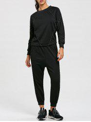 Sweat-shirt à manches raglan et pantalon de jogging à cordon -