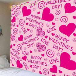 Valentine's Day Heart Printed Wall Art Tapestry -
