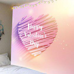 Valentine's Day Shiny Heart Printed Wall Art Tapestry -