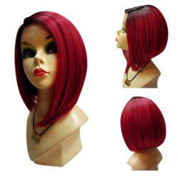 Medium Side Parting Ombre Straight Bob Synthetic Wig -