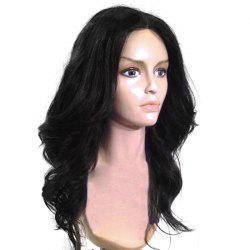 Long Center Parting Shaggy Wavy Capless Synthetic Wig -