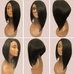 Medium Side Parting Straight Asymmetric Inverted Bob Synthetic Wig -