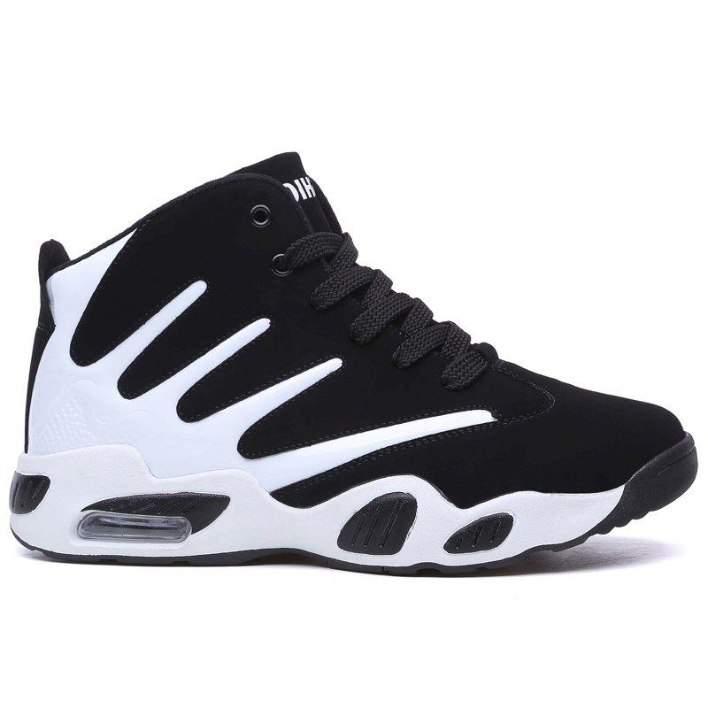 5cd1710d9b1a Unique Color Block Casual Breathable Basketball Shoes