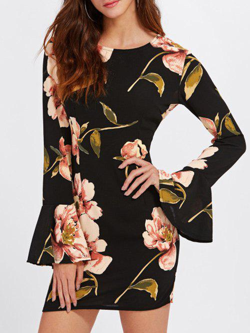 Best Flare Sleeve Floral Printed Dress