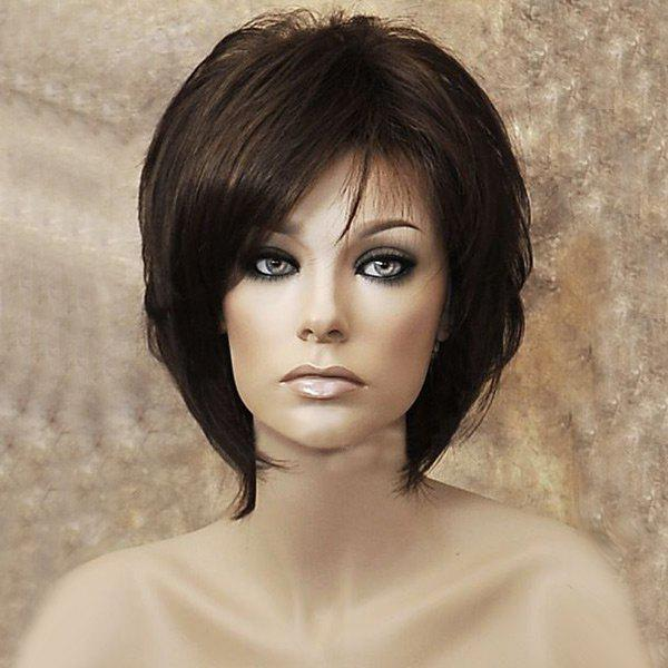 Outfit Medium Oblique Bang Capless Straight Synthetic Wig