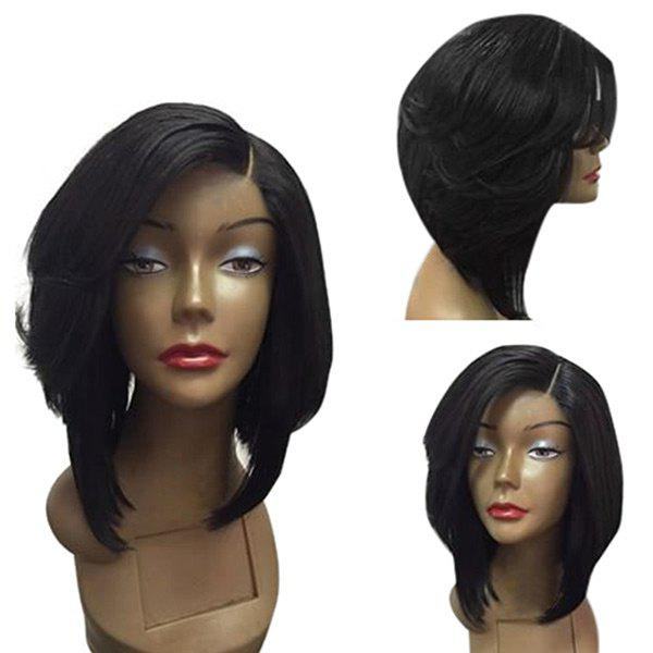 Discount Medium Side Part Straight Feathered Bob Synthetic Wig
