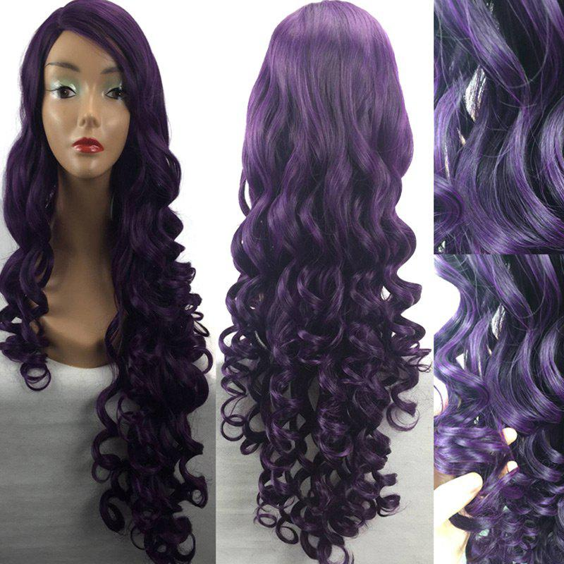 Fashion Ultra Long Side Parting Loose Wave Heat Resistant Synthetic Wig