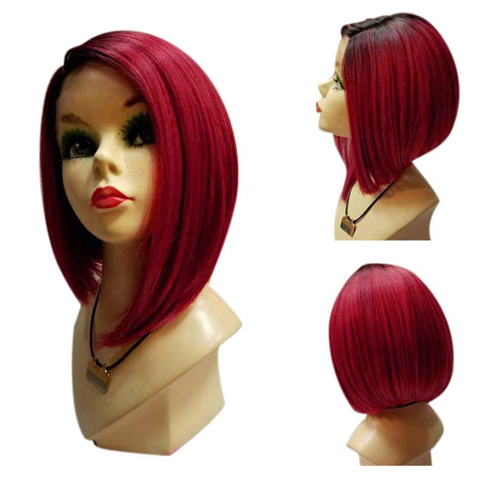 Outfits Medium Side Parting Ombre Straight Bob Synthetic Wig