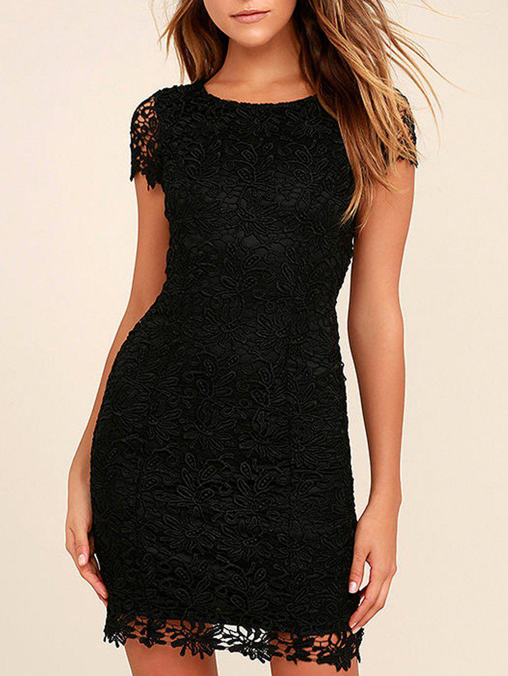 Discount Lace Back Cut Out Bodycon Dress