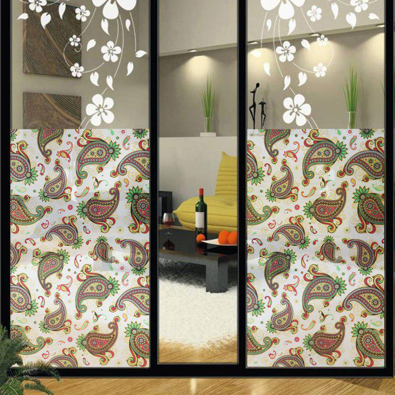 Discount Paisley Pattern Window Film Sticker One Roll