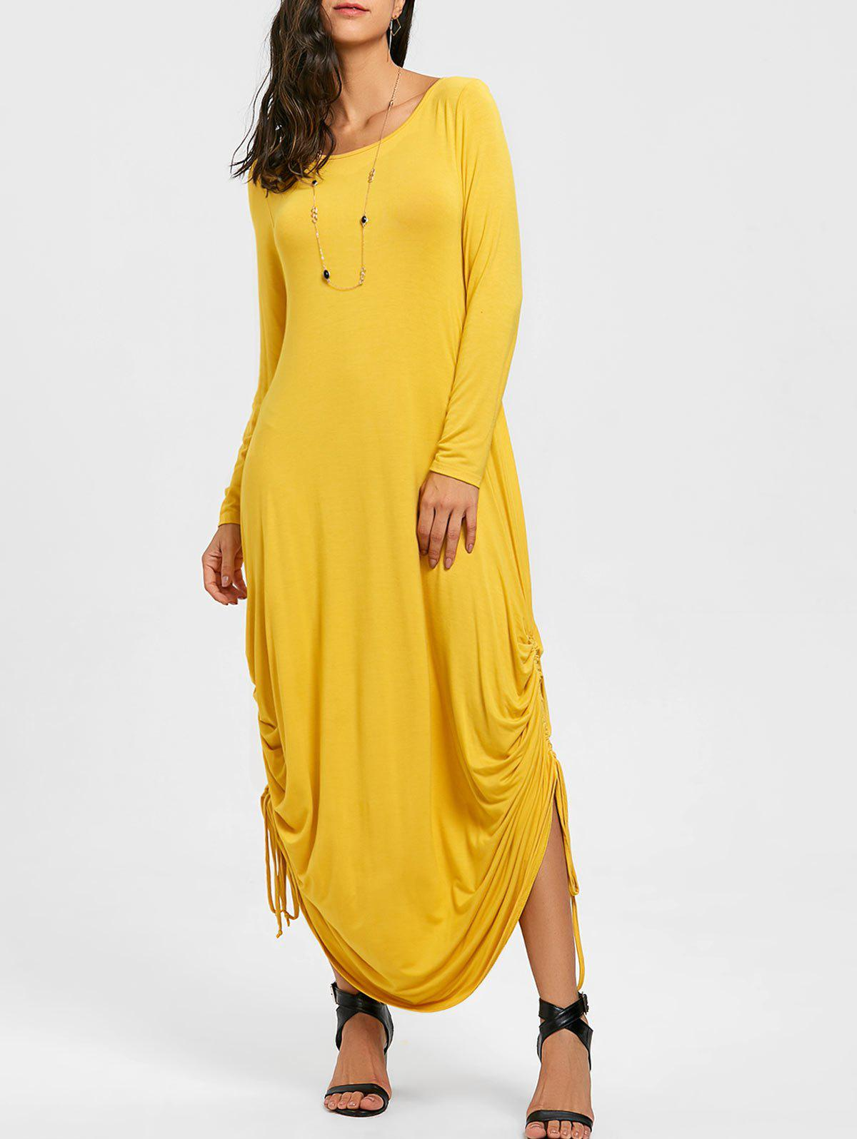 750489d033 2019 Drawstring Jersey Cocoon Maxi Dress