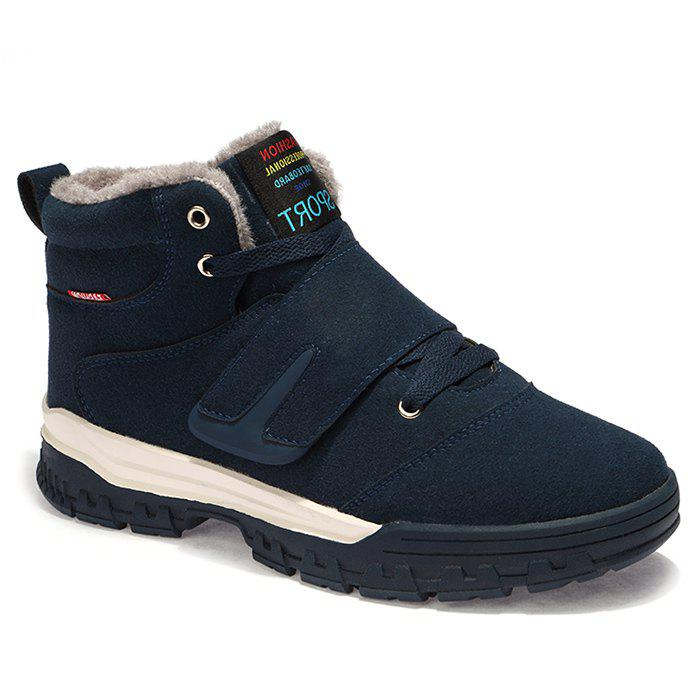 Shop Hook and Loop Plush Lining Snow Boots