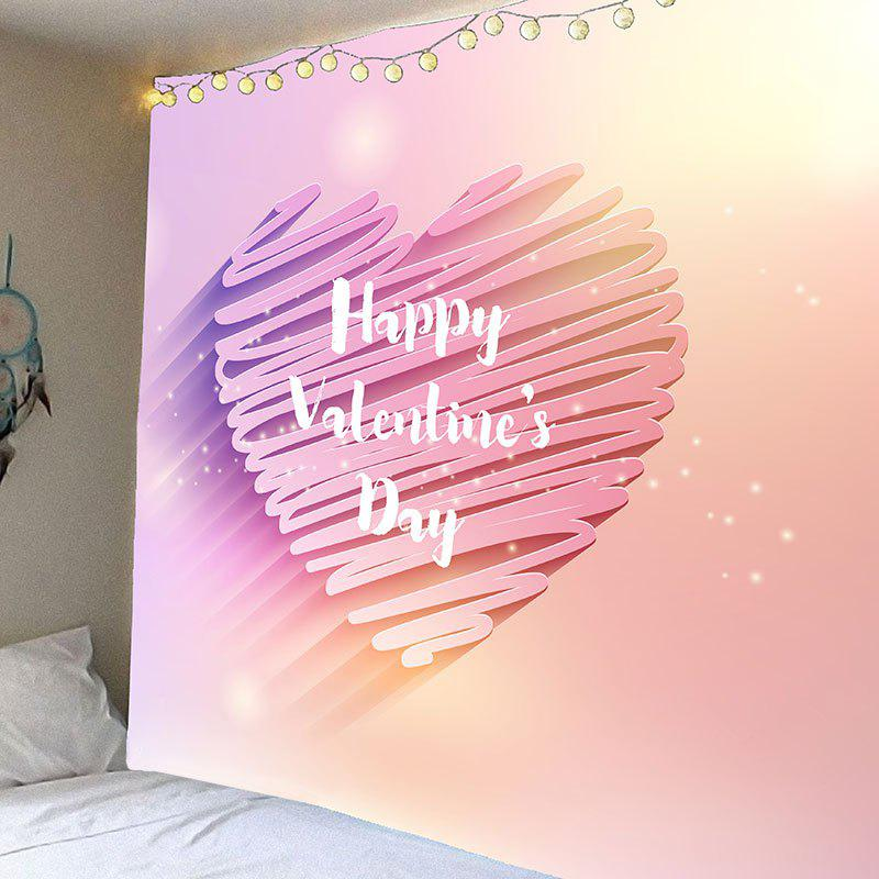 Discount Valentine's Day Shiny Heart Printed Wall Art Tapestry