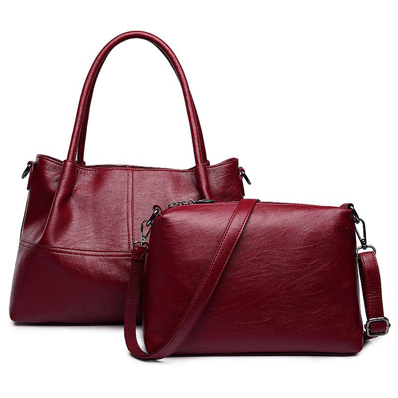 Best Faux Leather 2 Pieces Handbag Set
