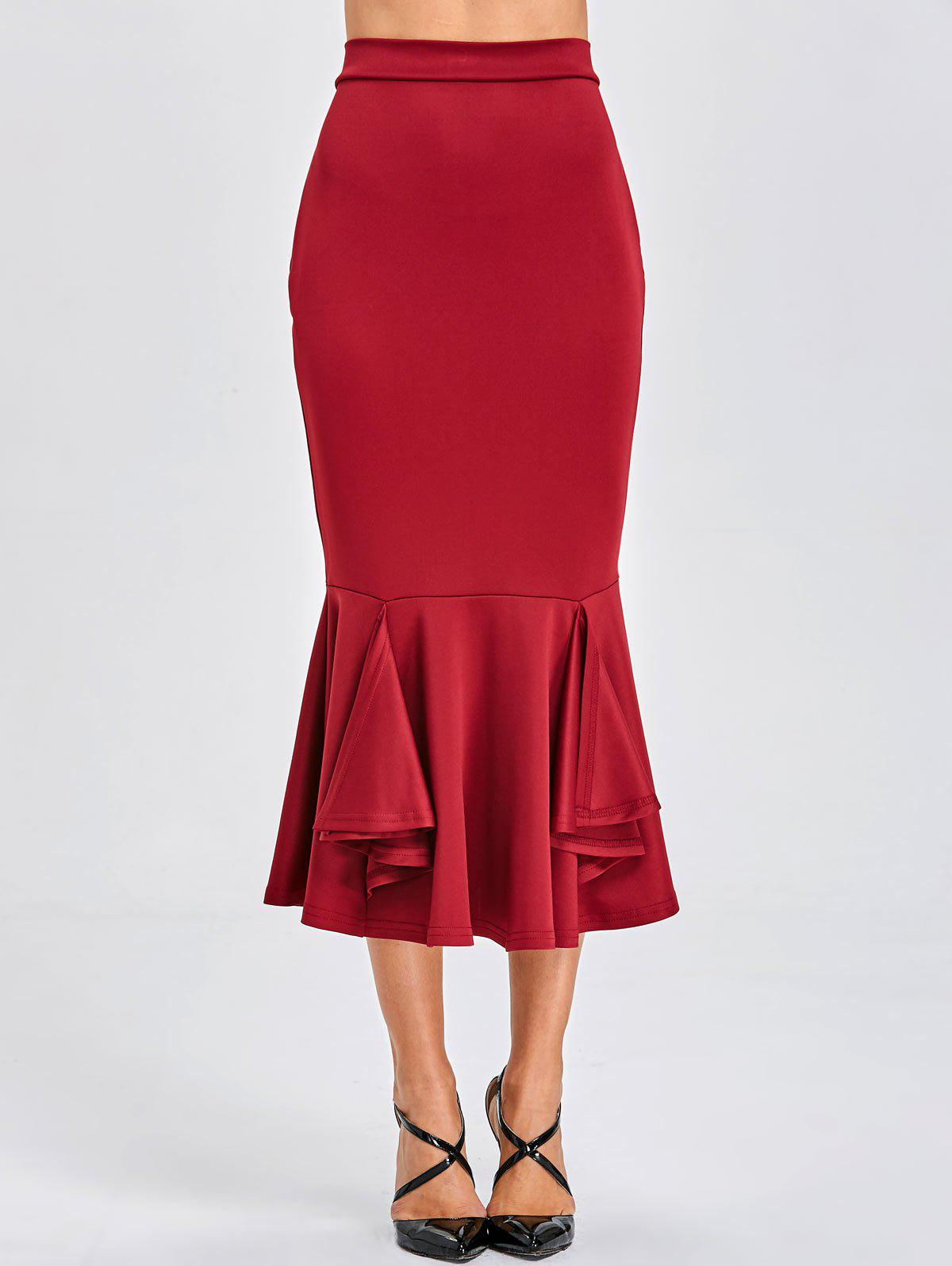 Affordable Mermaid Bodycon Midi Skirt
