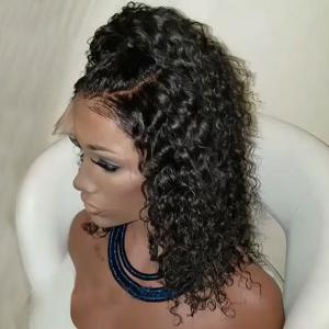 Medium Free Part Fluffy Water Wave Lace Front Synthetic Wig -
