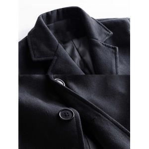 Single Breasted Wool Blend Coat with Side Pockets -