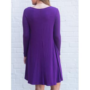 Long Sleeve Cross Strap Tunic Dress -