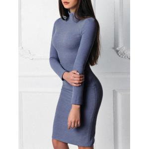Mock Neck Bodycon Sweater Dress -