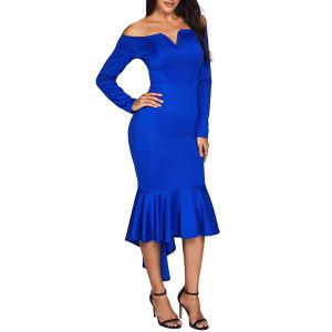 Off The Shoulder V Cut Robe sirène -