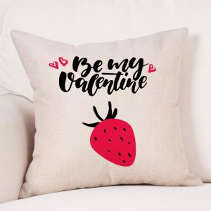 Fruit Print Valentine's Day Decorative Linen Pillowcase -