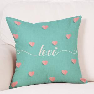 Hearts Love Print Valentine's Day Decorative Linen Pillowcase -