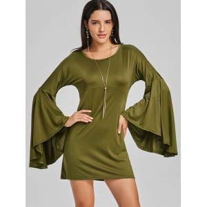 Mini Bell Sleeve Shift Dress -