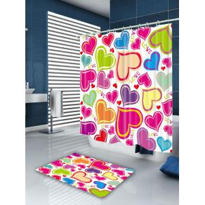 Valentine' Day Heart Of Love Patterned Shower Curtain -