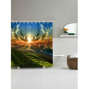 Natural Scenery Printed Polyester Waterproof Shower Curtain -