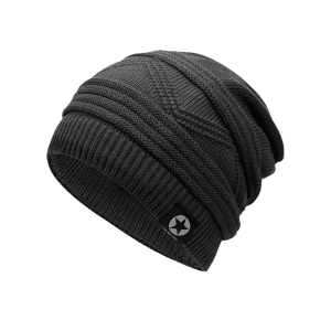 Outdoor Multipurpose Empty Top Crochet Knitted Beanie -