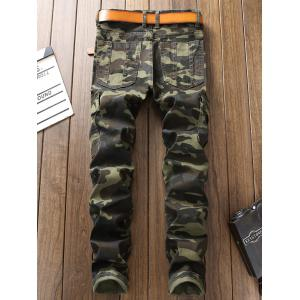 Camouflage Zip Pockets Cargo Pants -